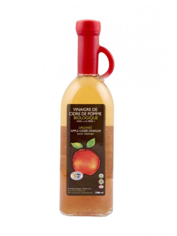 Vinaigre de cidre de pomme biologique « avec la mère »