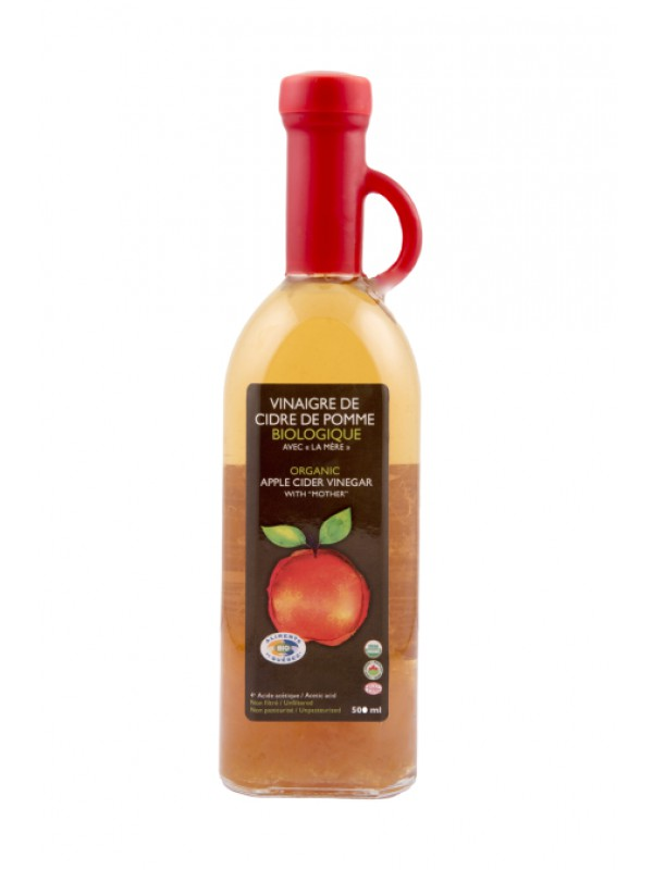 "Organic apple cider vinegar ""avec la mère"""